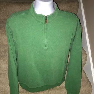 Peter Millar 1/4 zip soft cotton golf sweater - XL